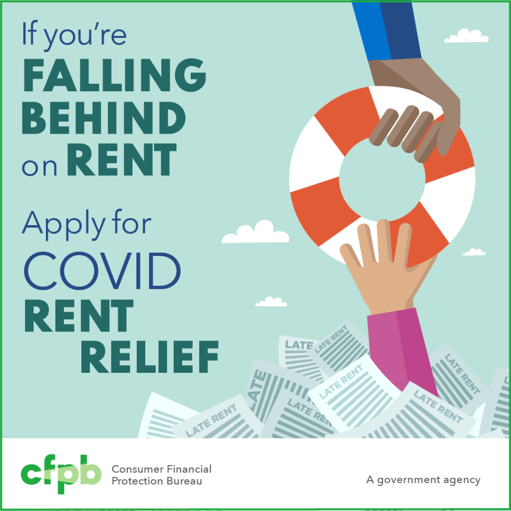 Worried about missed rent payments or eviction? Assistance is available to help cover your rent, utilities or other housing-related costs. Visit consumerfinance.gov/renthelp to find a program near you. #RentHelp